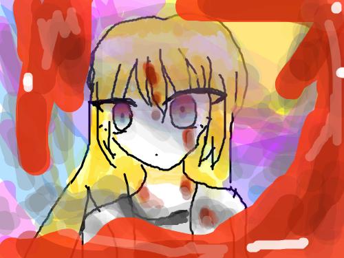 살육의 천사 레이철 : 공포 버전...... 스케치판 ,sketchpan
