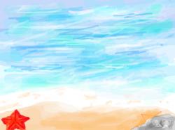 바다 그리기 : 여름방학 숙제에서 그림그리기가있는데 연습삼아 그려봤어요ㅎㅎㅎ         그리고 검색에 턱케치북이라고 치시면 제영상 많이있으니 놀러와주세욧 , 스케치판,sketchpan,손님