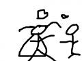 결혼 : 남자와 여자가 결혼했다. 스케치판 ,sketchpan