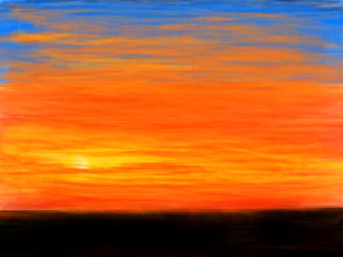 노을[기현성] : 노을로 물든 하늘 스케치판 ,sketchpan