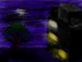 밤하늘[기현성] : 밤하늘 건물과 나무 스케치판 ,sketchpan