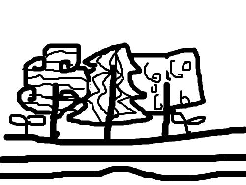 서윤 : 나무ㅣ나무나무 스케치판 ,sketchpan