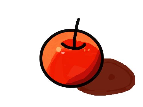 사과 : 사과를 그렸어요 스케치판 ,sketchpan