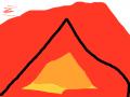 3 1 28 : 화산폭발 스케치판 ,sketchpan