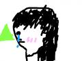 산을 바라보는 소녀 : 산을 바라보며 슬픈 생각을 하는 소녀 스케치판 ,sketchpan