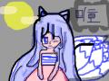 미호 : 제 캐릭터에요. 스케치판 ,sketchpan