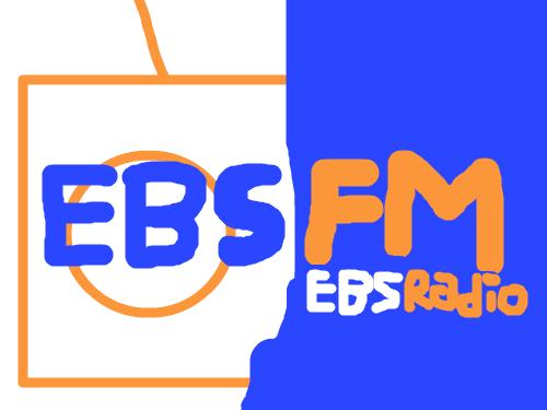 EBSFM(전. EBS라디오) 로고 : 라디오도 봐. 스케치판 ,sketchpan