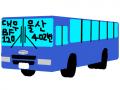 (대우 로얄시티 수출형) 울산시내버스 402번 버스 : 대우 BF120 DL08엔진 디젤 스케치판 ,sketchpan
