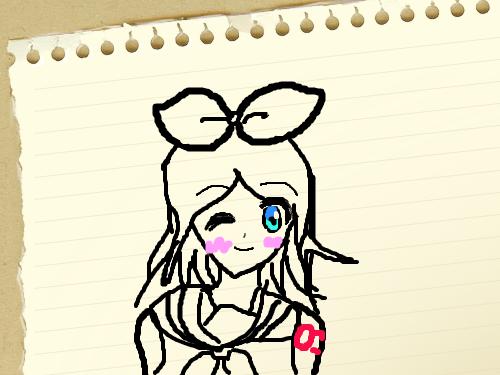 린 짱 : 마우스로 그린 것 이어서 엄청 못 그렸습니다 스케치판 ,sketchpan