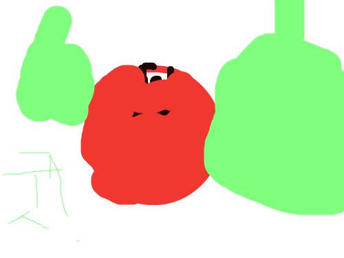 사과만들기{대호} : 사과입니다 스케치판 ,sketchpan