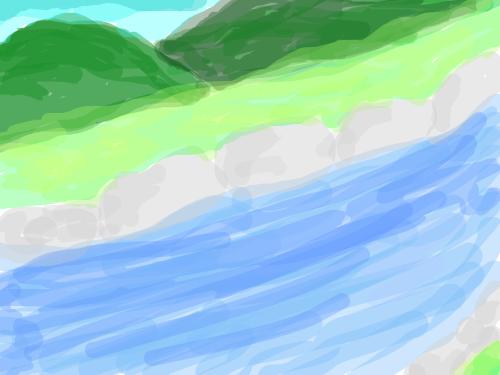 가화강 배경 : 유수리 가화강 유역 스케치판 ,sketchpan