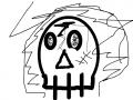 해골 : 해고오오오오올 스케치판 ,sketchpan