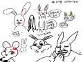 토끼 : 토끼 스케치판,sketchpan