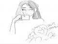 친구랑 맞.. : 친구랑 맞리퀘중‥(폰그림으로‥) 1시간동안했으니까~1시간더하고쉬어야ㅈ‥ 빼애애앸 !!! 내눈알 빠진다!!!!! 스케치판 ,sketchpan