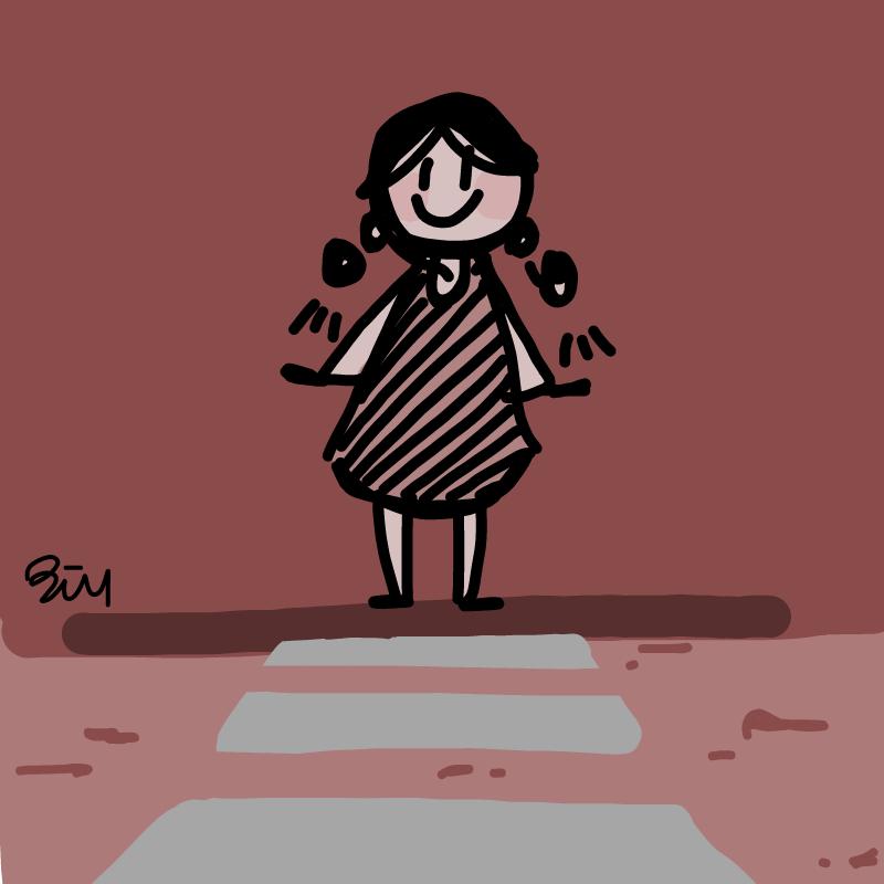 횡단보도 : 횡단보도 스케치판 ,sketchpan