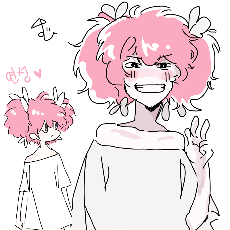 분홍복슬머.. : 분홍복슬머리 최고에요.. 스케치판 ,sketchpan