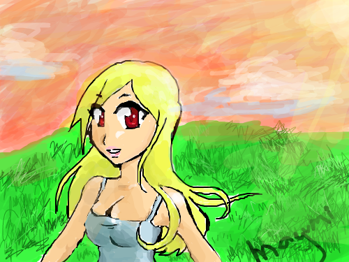 SUNNY DAY : I was just joking around with this art not taking it seriously cuz i was bored. XD 스케치판 ,sketchpan