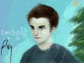 edward cullin : the movie was great. and i love edwards pale white skin and him walking thru the snow. so i drew this.-my names on the drawing for other purposes 스케치판 ,sketchpan