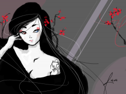 Beauty In Age by rutess : well i never have a decent anime drawing well here it is. jsut when you thought growing old was a bad thing you can find it very enthralling. , 스케치판,sketchpan,hitome