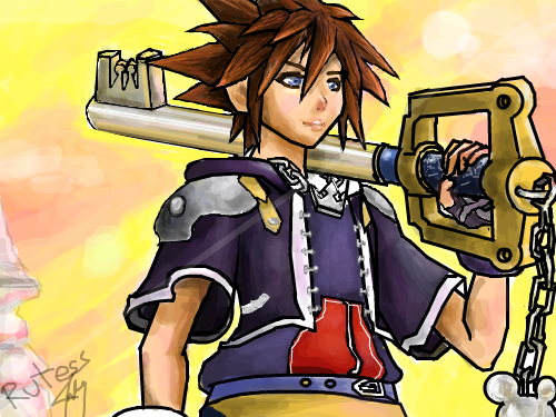 Kingdom Hearts : This was inspired by the new game. Woot! Btw im not done..i stilll need final touches. ;D 스케치판 ,sketchpan