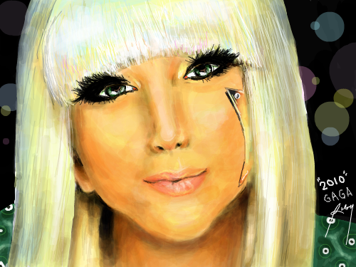 G A G A : Please 5 GOLDINK! ^_^Im a big fan of Lady Gaga and her crazy style, so I decided to draw her. Took me long enough but I managed. :) Enjoy! 스케치판 ,sketchpan