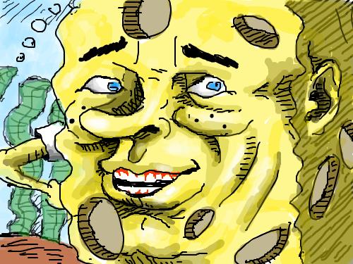 스폰지밥 실사 : 으악 ㅎ 스케치판 ,sketchpan