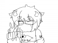 안경 깜박.. : 안경 깜박했다 채색 해주실분 구해요~~ 색 아무렇게나 가능~ 스케치판 ,sketchpan