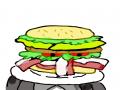 햄버거맨 : 햄버거맨 스케치판 ,sketchpan