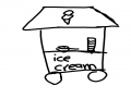 아이스크림.. : 아이스크림 차 스케치판 ,sketchpan