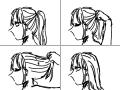 머리 푸는 모습 : 연습입니다 스케치판 ,sketchpan