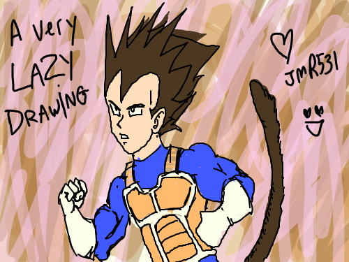 Live Canvas Sketchpan A Bad Vegeta Drawing