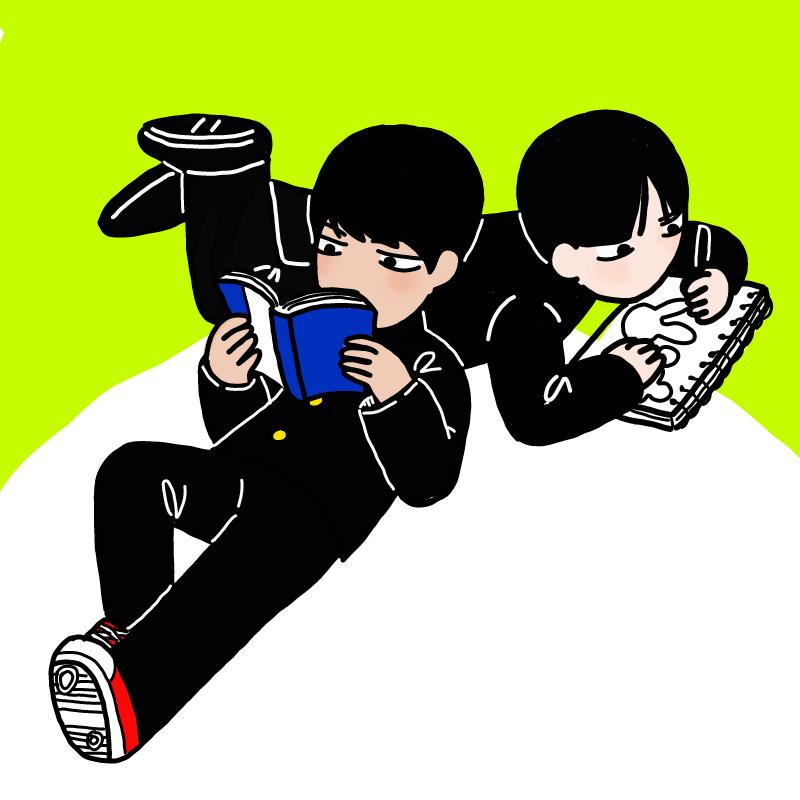 사이좋은 P.. : 사이좋은 P군과 K군 스케치판 ,sketchpan