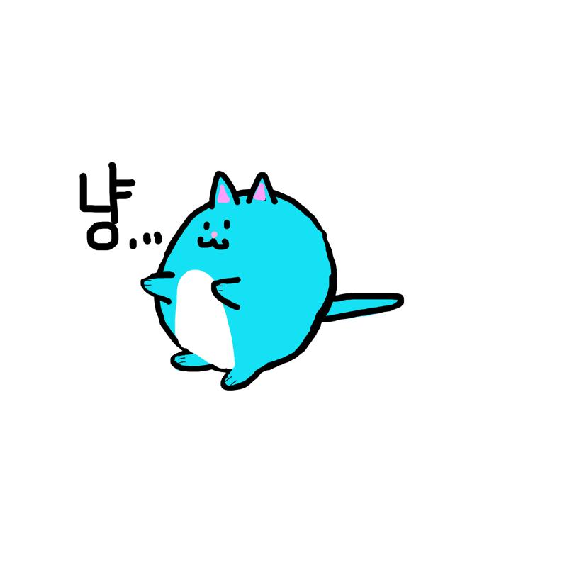 고양이는 .. : 고양이는 냥 스케치판 ,sketchpan