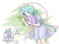 믿지 못하.. : 믿지 못하시겠지만, 소녀소녀하게 꽃밭에 누.운. 그림입니다....ㅠ.ㅜ 스케치판,sketchpan