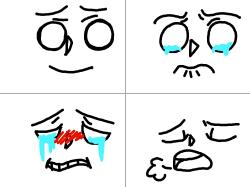 표정 : 울때의표정 , 스케치판,sketchpan,KKJINN
