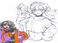 으 러프맨.. : 으 러프맨위에그린거개호나ㅏㅇㅠ강제무테너무하자나.... 스케치판 ,sketchpan