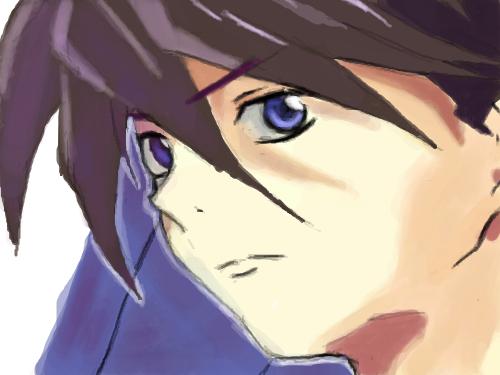 Gundam Wing Frozen Teardrop : Heero Yuy 스케치판 ,sketchpan