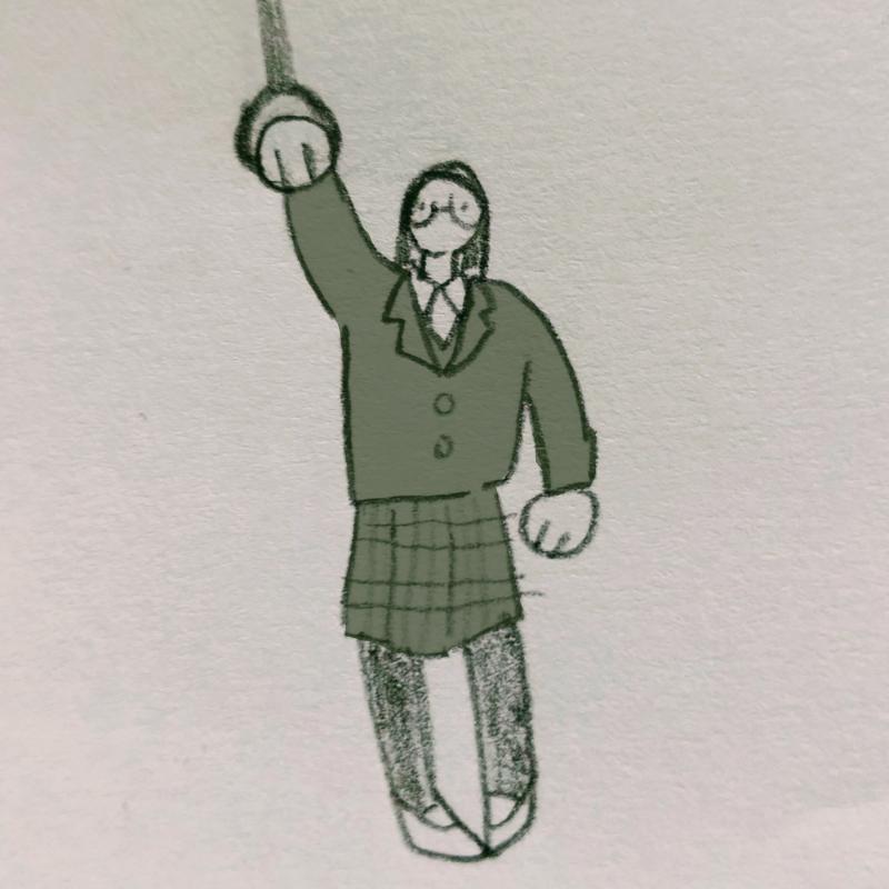 콩나물시루.. : 콩나물시루 안의 시금치. (등교하는 나) 스케치판 ,sketchpan