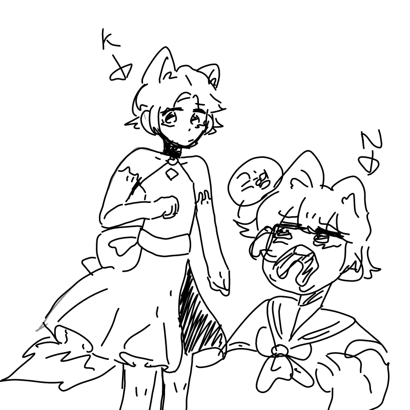 N:윽 아재 .. : N:윽 아재 왜그래여?? K: .....? 스케치판 ,sketchpan