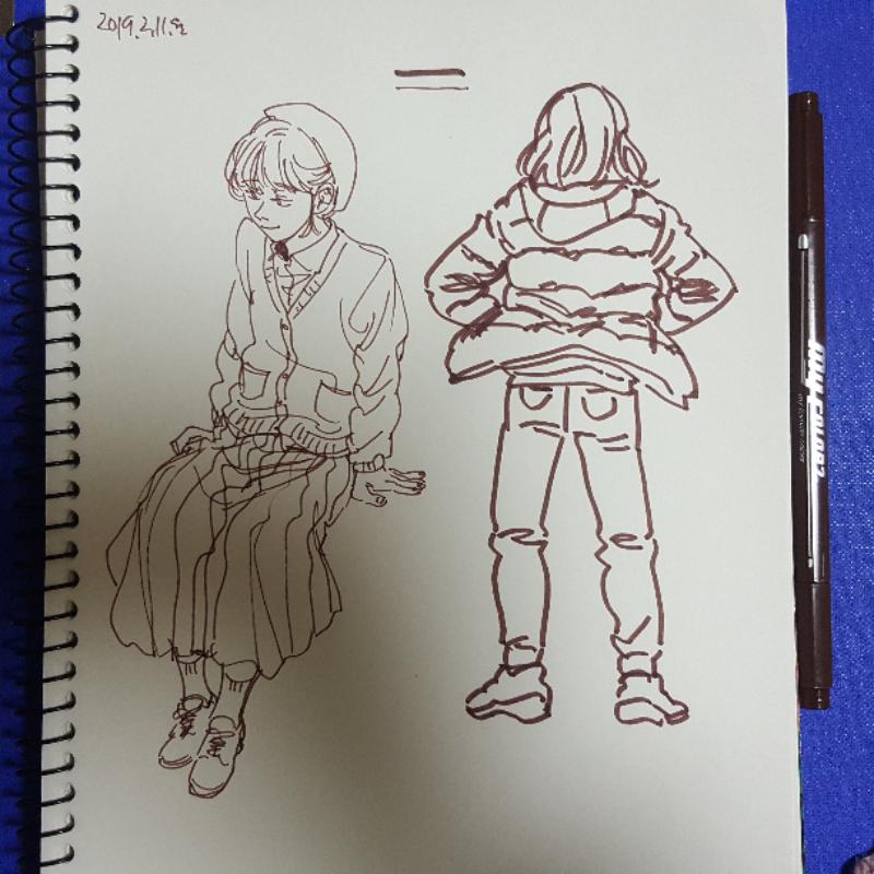 며칠전에 .. : 며칠전에 산 펜으로 낙서 스케치판 ,sketchpan