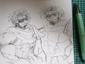 우리 왕성.. : 우리 왕성에 당신 딸래미가 셋인데 좀 깎아서 와주라 스케치판,sketchpan