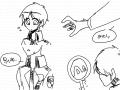 진거엘런 : 이상하다 스케치판 ,sketchpan
