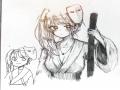손그림으로.. : 손그림으로 이어그리기.... 폰그림은 힘들어서..검을 그릴려했는데 왠 긴 검은 막대가.. 스케치판,sketchpan