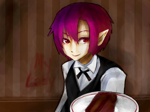 The servant : An experiment. I prefer linearts first. ( = 3 = ) 스케치판 ,sketchpan