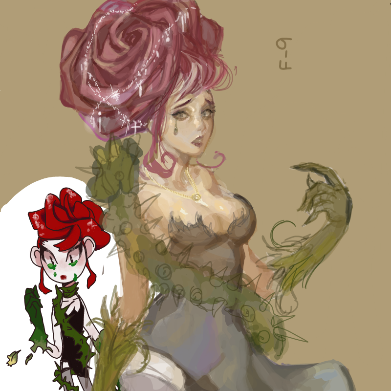 꽃 의인화 .. : 꽃 의인화 중에 이렇게 예쁜 캐릭터는 처음 봅니다... 아이디어 정말 좋으시네요... 스케치판 ,sketchpan