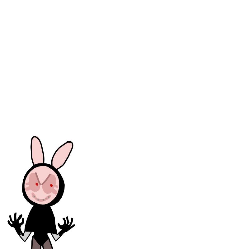 토끼가면 .. : 토끼가면 빌런 스케치판 ,sketchpan