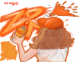 color  ora.. : color  orange 스케치판 ,sketchpan