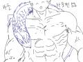 마초맨 : 내 친구가 용을 잘그리는데 나도 한번 따라 해보려다가 이상한 도마뱀만 하나 소환해버림. 스케치판 ,sketchpan