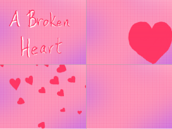 A Broken Heart : My second try at an animation.  I know it is simple but quite a bit harder than it looks.  This one took me almost 2 hours. , 스케치판,sketchpan,kute