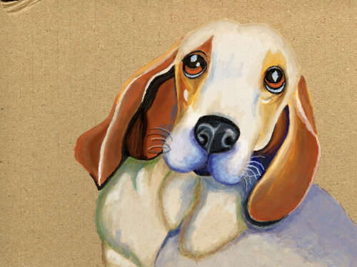 The Hounddog : These dogs are so cute, but they always look sad 스케치판 ,sketchpan